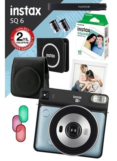 Fujifilm Instax SQ 6 Aqua Blue Fotoğraf Makinesi ve Hediye Seti Renkli
